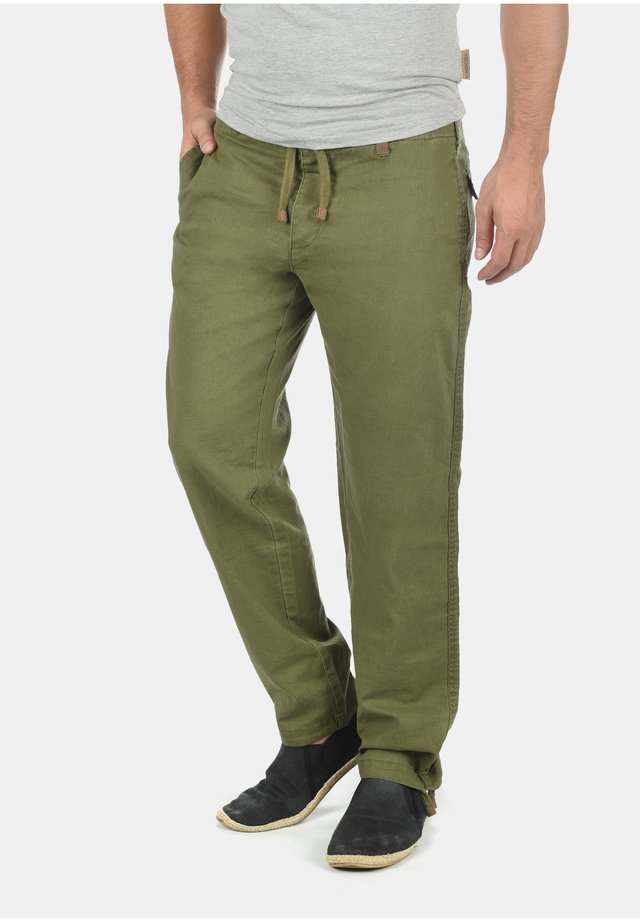 Trousers - dark olive