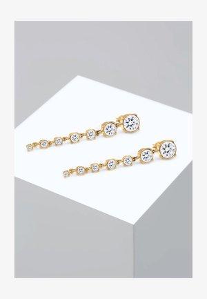 GLASS CRYSTAL - Earrings - weiß