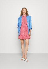 byTiMo - CHECKS KITCHEN DRESS - Shirt dress - red - 1