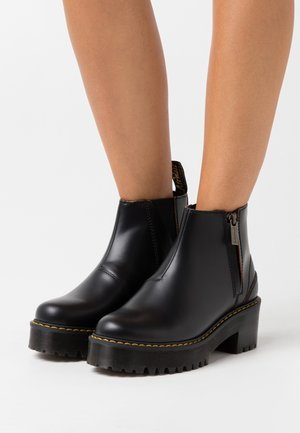 ROMETTY  - Platform ankle boots - black vintage smooth