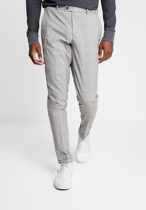 WINDOWPANE CHECK TROUSER - Suit trousers - tan