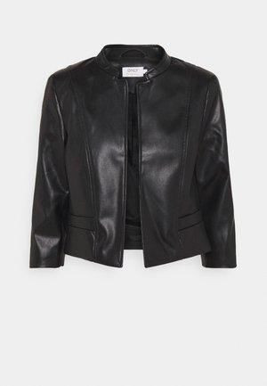 ONLKIERA JACKET - Faux leather jacket - black