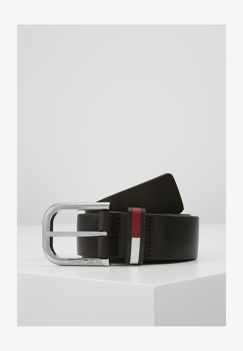 Tommy Jeans - PIN BUCKLE FLAG INLAY - Belt - black
