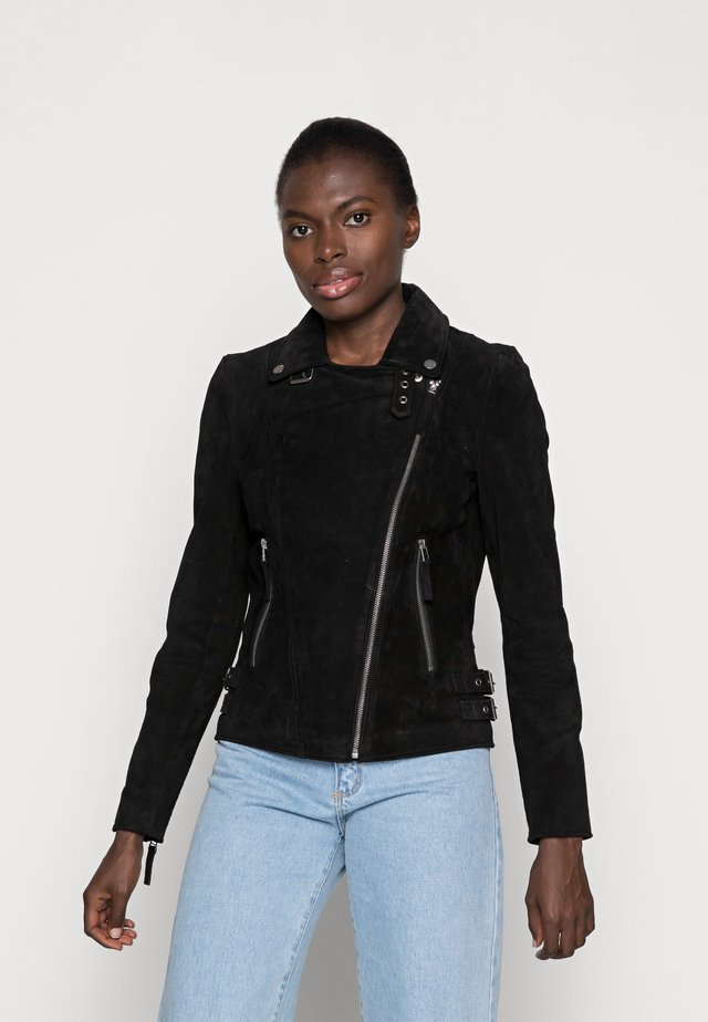TAXI DRIVER - Leather jacket - black