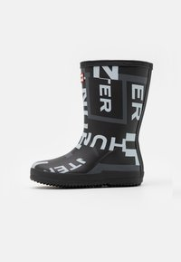 Hunter ORIGINAL - KIDS FIRST CLASSIC EXPLODED LOGO BOOTS UNISEX - Holínky - onyx - 0