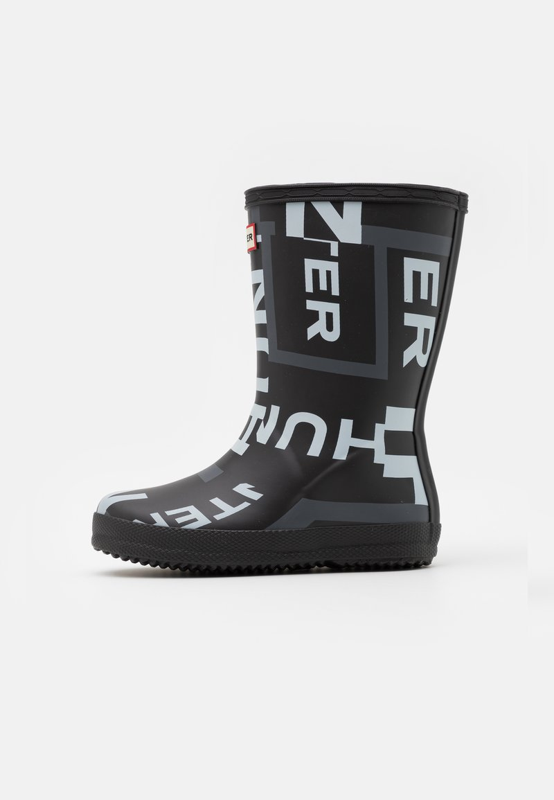 Hunter ORIGINAL - KIDS FIRST CLASSIC EXPLODED LOGO BOOTS UNISEX - Holínky - onyx