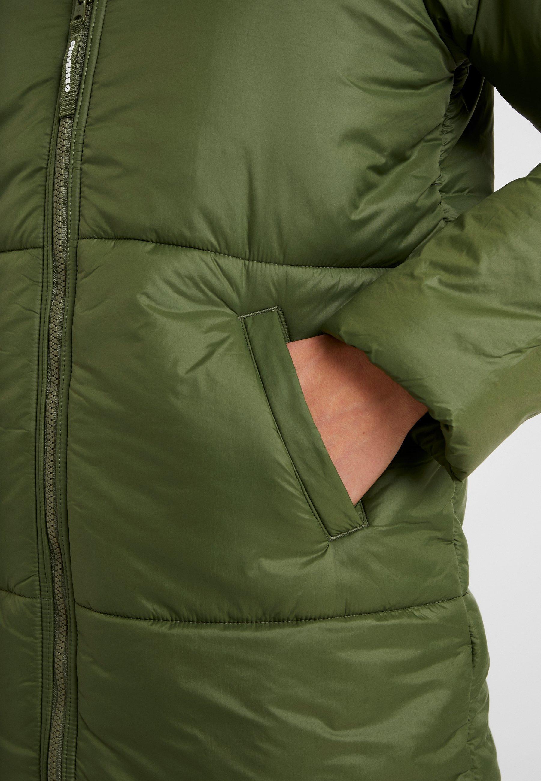 SYNTHETIC LONG JACKET Płaszcz zimowy olive