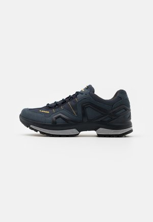 GORGON GTX - Hiking shoes - steel blue/mustard