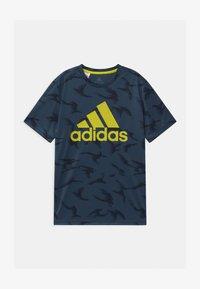 adidas Performance - UNISEX - Print T-shirt - crew navy/solar yellow - 0