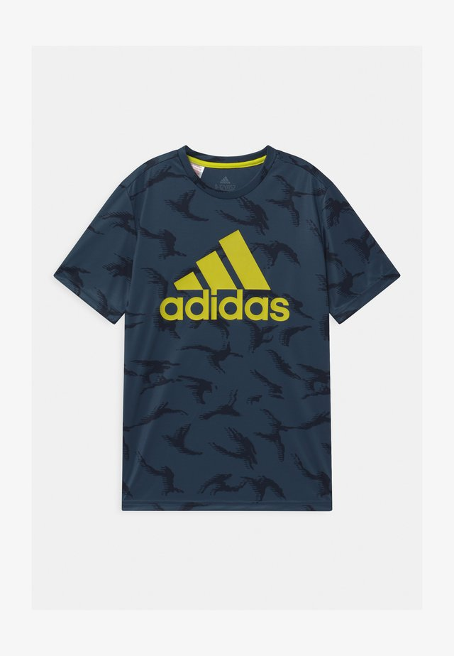 UNISEX - T-shirt med print - crew navy/solar yellow