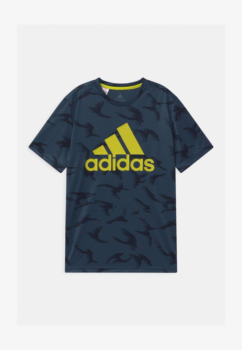 adidas Performance - UNISEX - Print T-shirt - crew navy/solar yellow