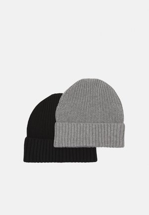 2 PACK UNISEX - Beanie - grey/black