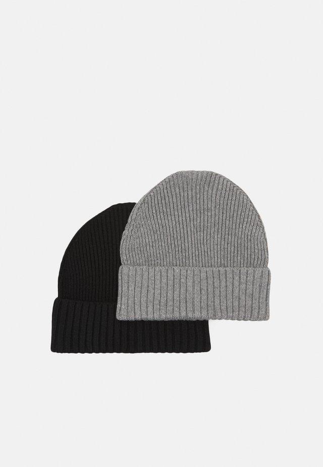 2 PACK UNISEX - Beanie - grey/black