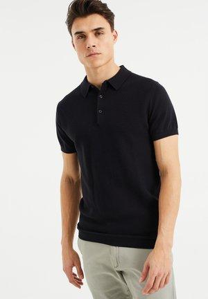 MET STRUCTUUR - Poloshirt - black