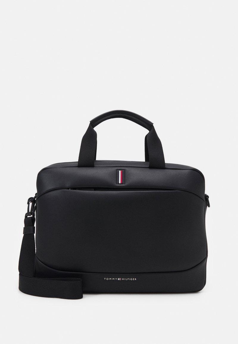 Tommy Hilfiger - HOUR BAG UNISEX - Across body bag - black