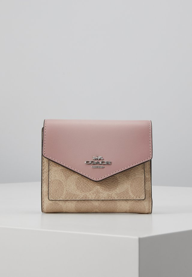 COLORBLOCK SIGNATURE SMALL WALLET - Portfel - sand aurora