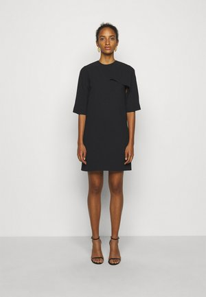 DRAPE DETAIL SHIFT DRESS - Denní šaty - black