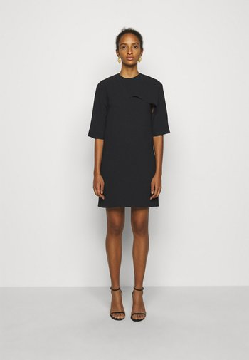 DRAPE DETAIL SHIFT DRESS - Day dress - black