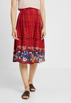 PRINTED SKIRT - A-line skirt - red