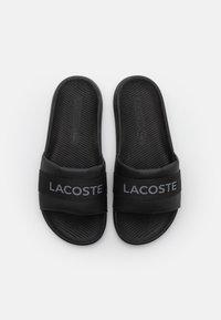 Lacoste - CROCO SLIDE - Mules - black - 3
