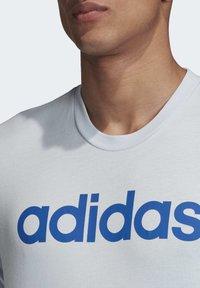 adidas Performance - ESSENTIALS LINEAR LOGO T-SHIRT - Print T-shirt - blue - 5
