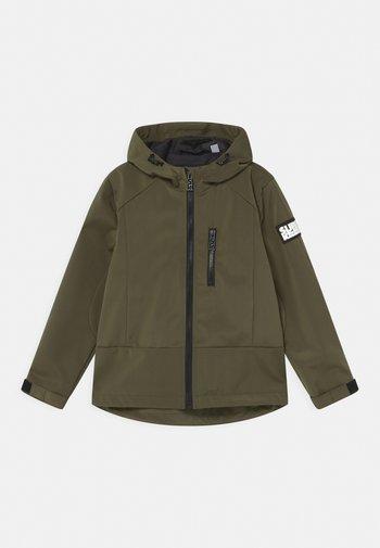 UNISEX - Soft shell jacket - army green