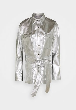 TAILOR JACKET - Leather jacket - silver