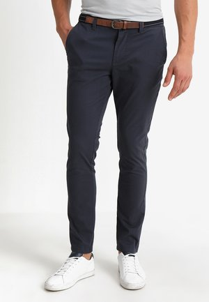 SLHSLIM JAMERSON PANTS - Chinosy - blue nights