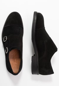 Selected Homme - SLHFILIP MONK SHOE  - Slip-ons - black - 1