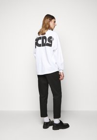 GCDS - ROUND LOGO TEE - Long sleeved top - white - 2