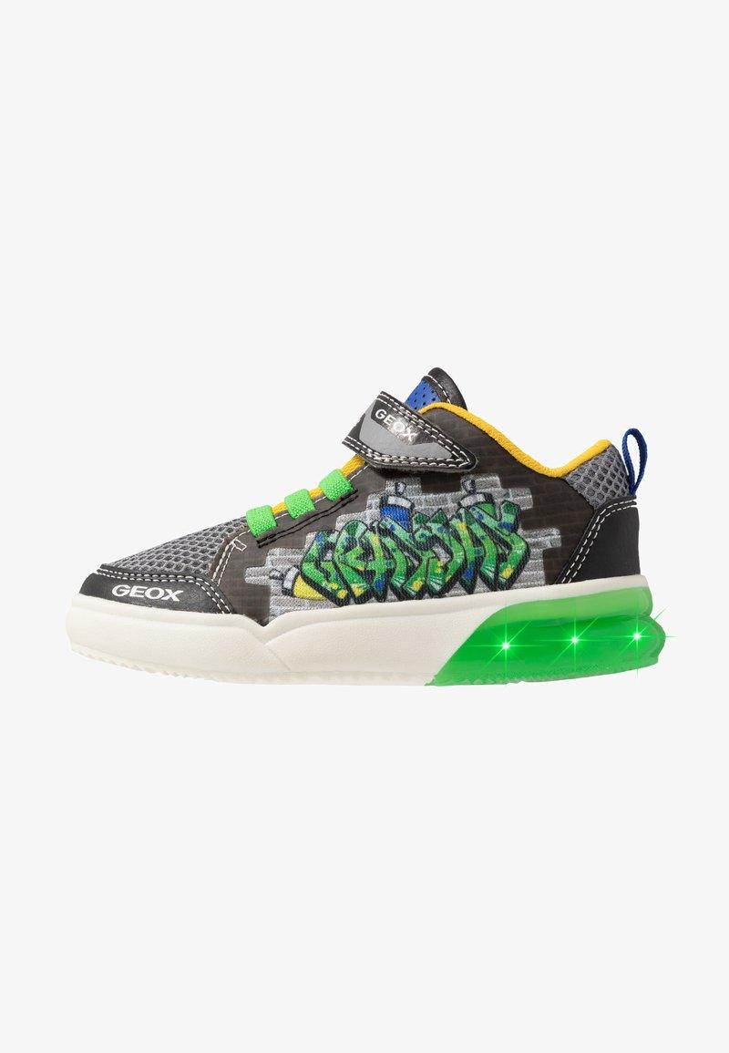 Geox - GRAYJAY BOY - Sneakersy wysokie - black/green