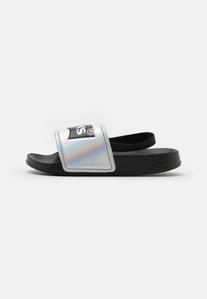 POOL MINI UNISEX - Sandals - black/metallic silver