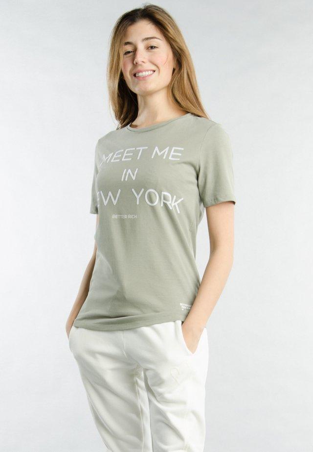 Print T-shirt - 6130 vetiver