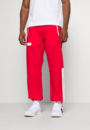 HOOPS WARM UP PANT - Pantalones deportivos - high risk red/white
