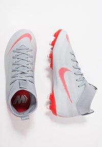 Nike Performance - MERCURIAL 6 ACADEMY MG - Moulded stud football boots - wolf grey/light crimson/pure platinum/metallic silver - 0