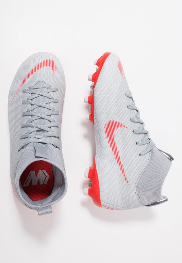 MERCURIAL 6 ACADEMY MG - Moulded stud football boots - wolf grey/light crimson/pure platinum/metallic silver