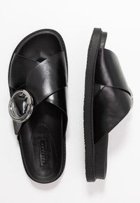 Topshop - PEDRO FOOTBED - Klapki - black - 3