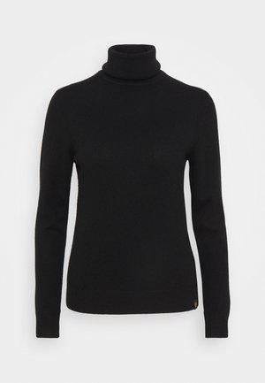 ENGINEERED ROLL NECK - Svetr - black