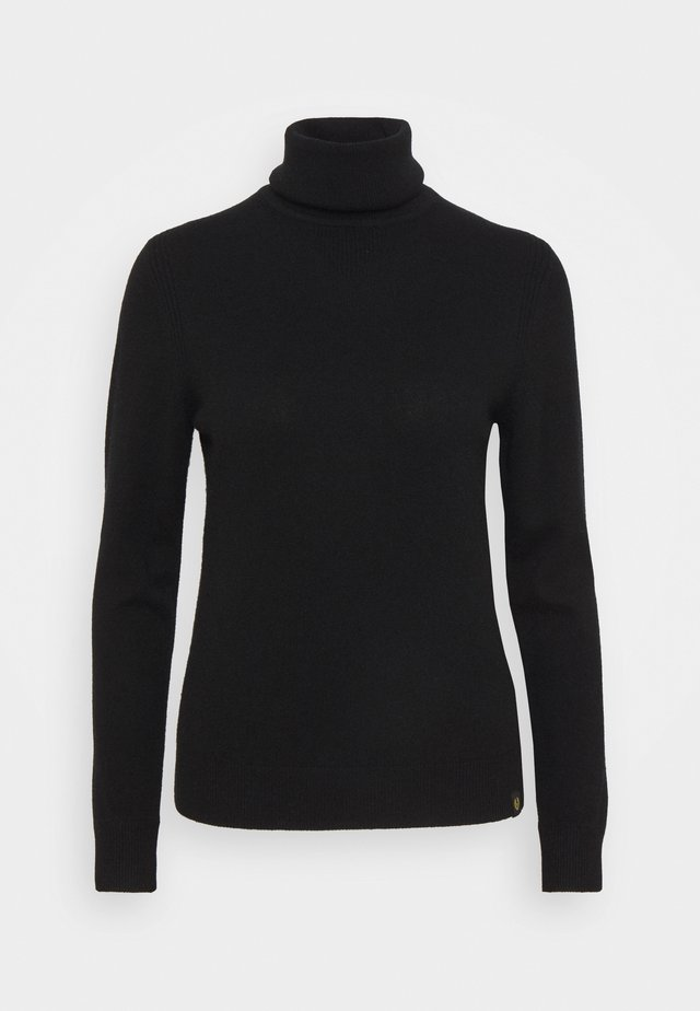 ENGINEERED ROLL NECK - Jumper - black