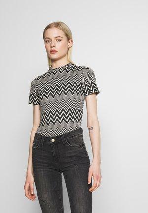 ONLVIGGA HIGHNECK  - Print T-shirt - cloud dancer/black
