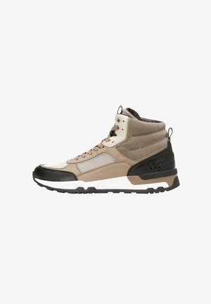 High-top trainers - taupe combi