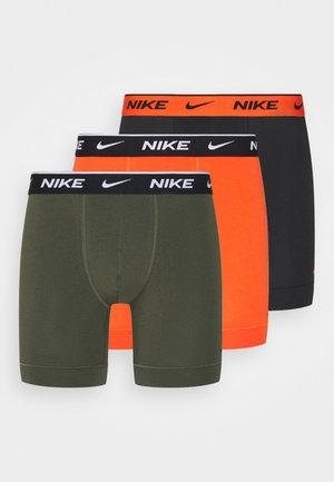 BOXER BRIEF 3PACK - Pants - orange/cargo khaki/black