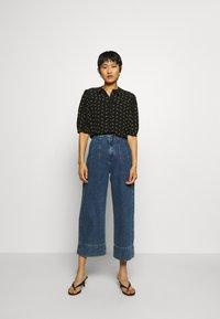 Gestuz - BELINAGZ SHIRT - Button-down blouse - black - 1
