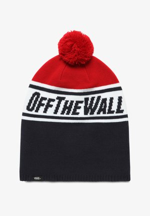 BY OFF THE WALL POM BEANIE BOYS - Czapka - dress blues-chili pepper