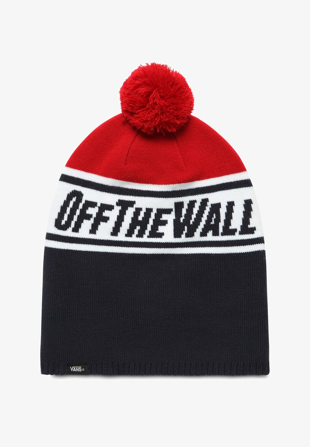 BY OFF THE WALL POM - Berretto - dress blues-chili pepper