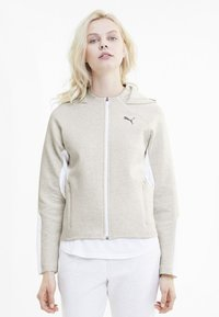 Puma - Zip-up hoodie - puma white heather - 0