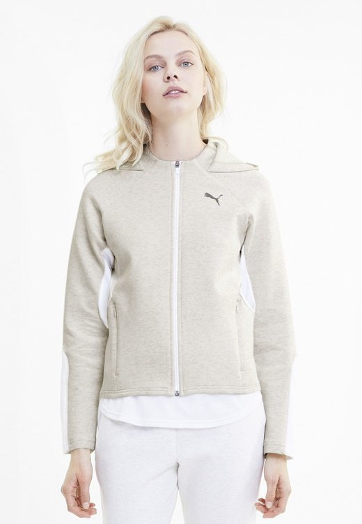 Puma - Zip-up hoodie - puma white heather