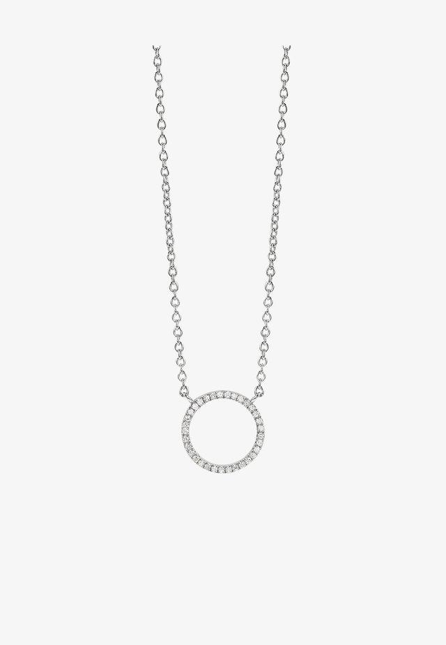 FULL CIRCLE OF LIFE DIAMOND - Collier - white rhodium silver