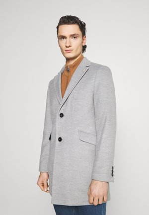 FAUX BUTTON - Cappotto corto - light grey