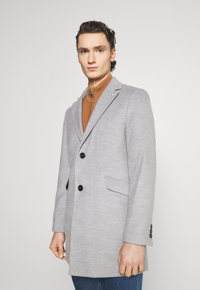 Burton Menswear London - FAUX BUTTON - Short coat - light grey